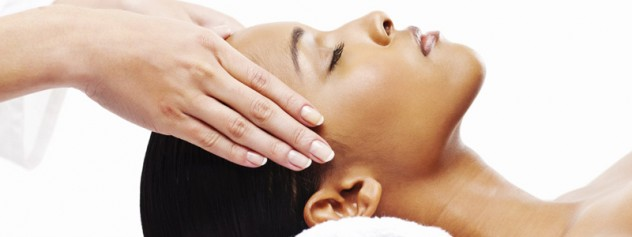Woman Having Indian Head Massage