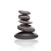 pebbles balanced on top of eachother, relaxing, spa zen stones