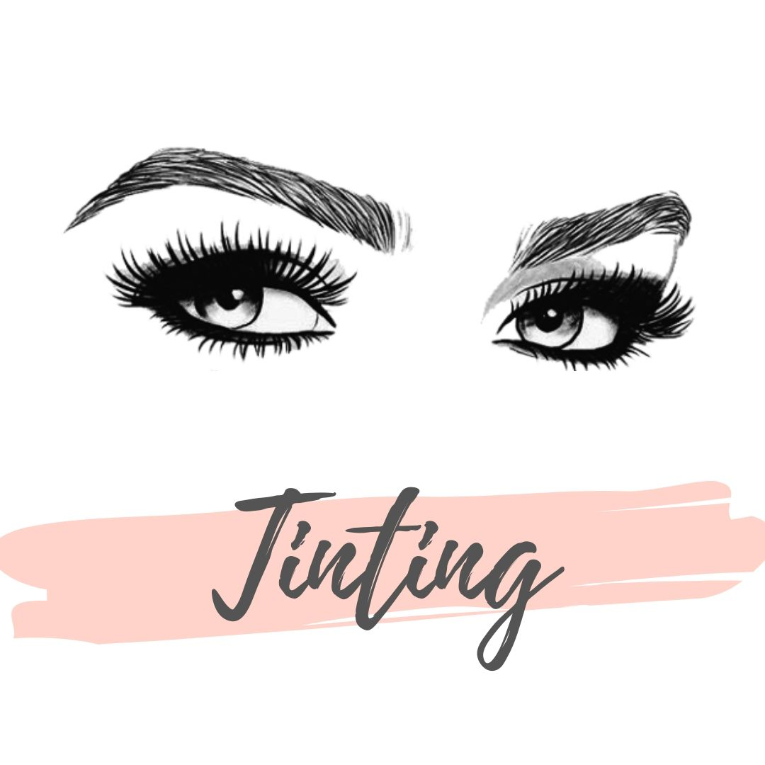 Brow tint & Lash tint graphic