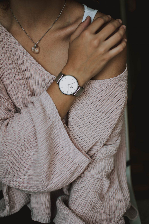 Woman wrist showing watch