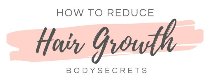 How to reduce hair growth infographic