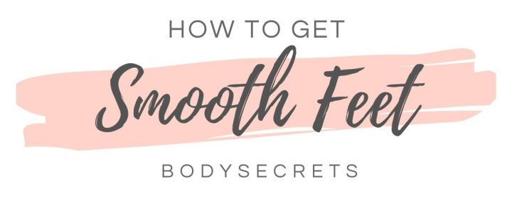 How to get smooth feet infographic