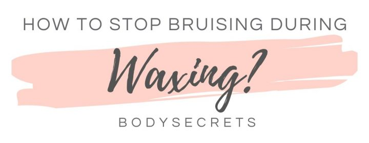 How to stop bruises in waxing - infographic